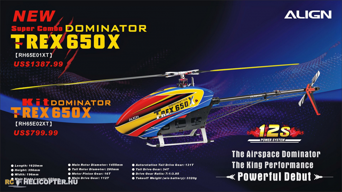 The new Align 650X Dominator is available now for Pre-Order