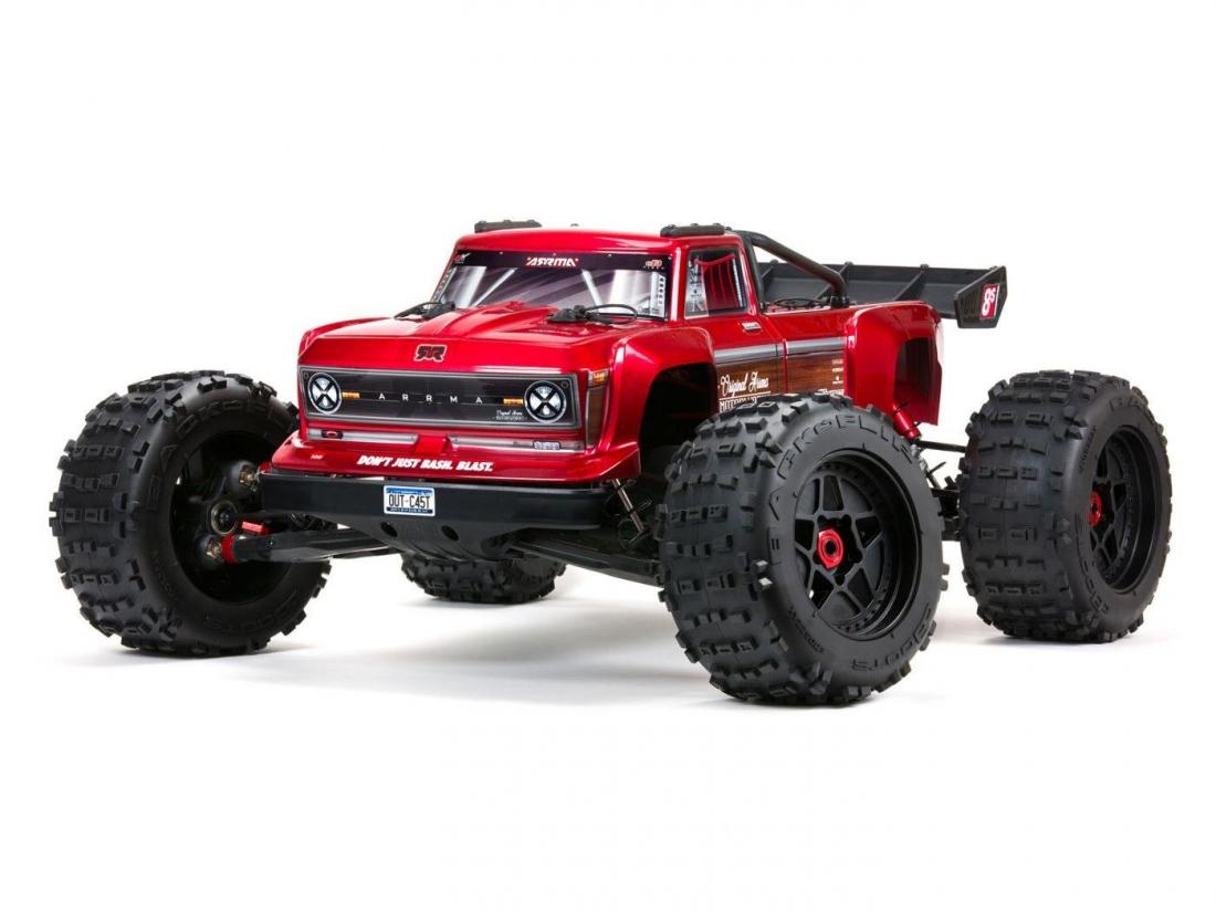 NEW - ARRMA OUTCAST 4X4 8S BLX 1/5th Stunt Truck Red C-ARA5810