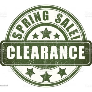 Spring Clearance now on