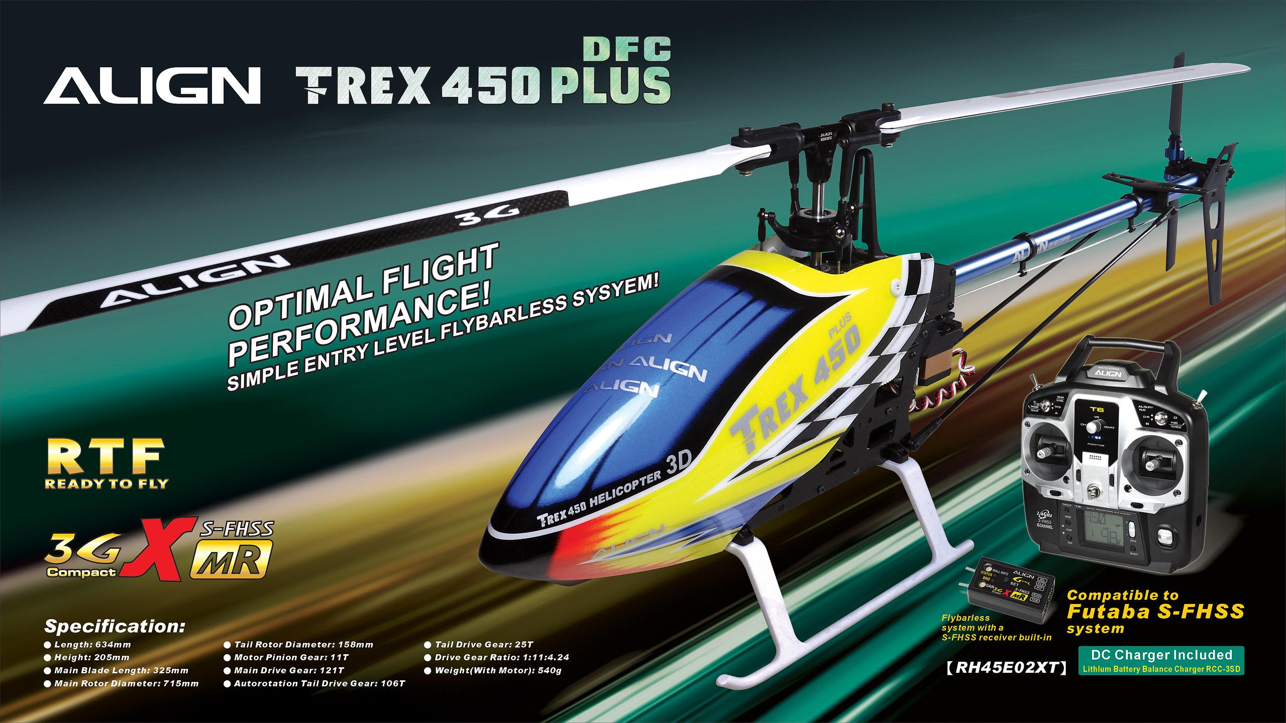 Align Trex 450 Plus Spares