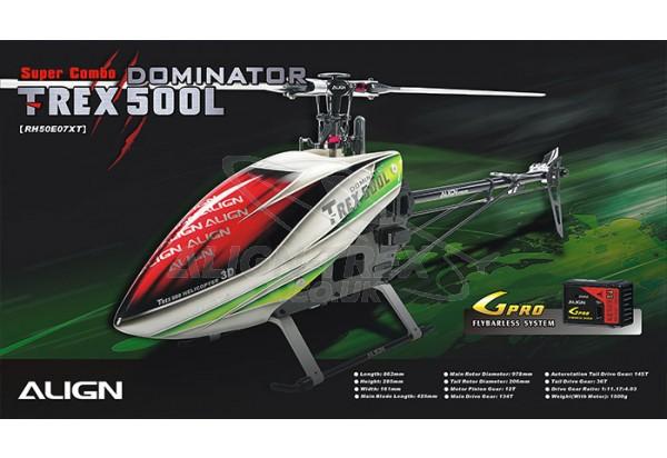 Align Trex 500L Dominator Spares