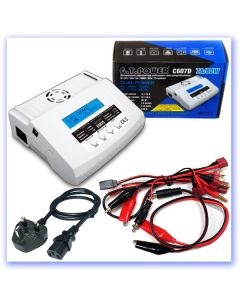 GT Power C607D 1-6S 80W 7A LiPo Balance Charger (Mains/DC) (RB405448)