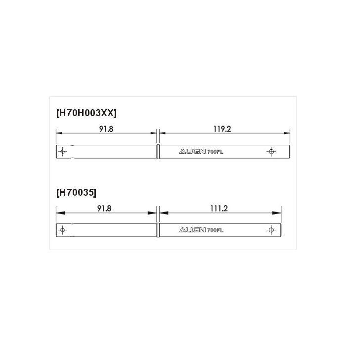 Details about  /Trex 700FL Main Shaft Hardened H70035-OEM