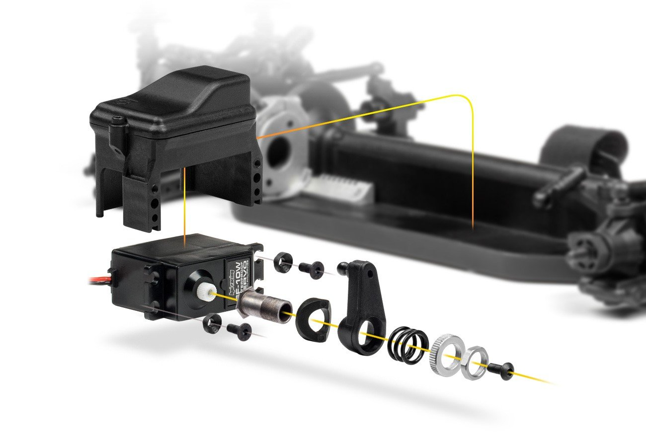 Hpi Rs4 Sport 3 Flux Falken Porsche 911 Gt3 R 114350 Mcpx Bl Servo Wiring Diagram The Cast Aluminum Cam Style Motor Mount Holds In Place For A Secure Pinion Spur Connection Two Screws Hold Firmly Position On
