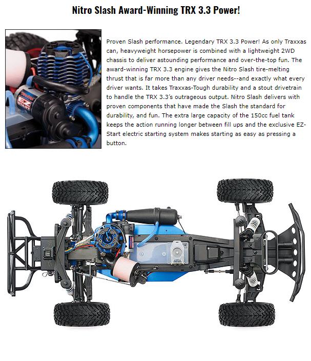 Traxxas Nitro Slash 3 3 TSM 1/10 2WD Chad Hord Edition (TQ/EZ Start)  TRX44056-CH