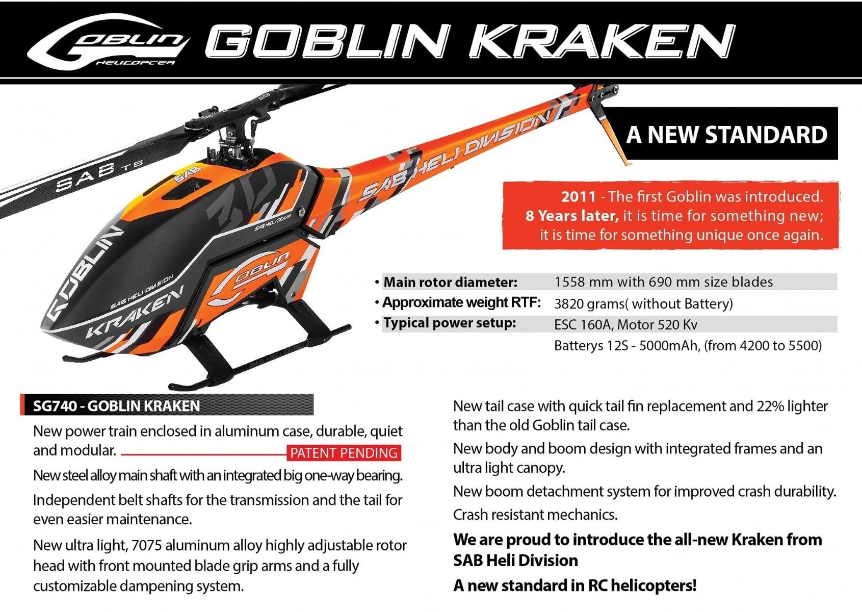 SAB Goblin Kraken 700 SG740