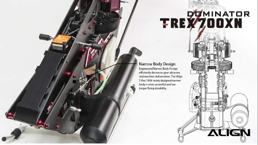 Align T-REX 700XN Dominator Combo RH70N11XT
